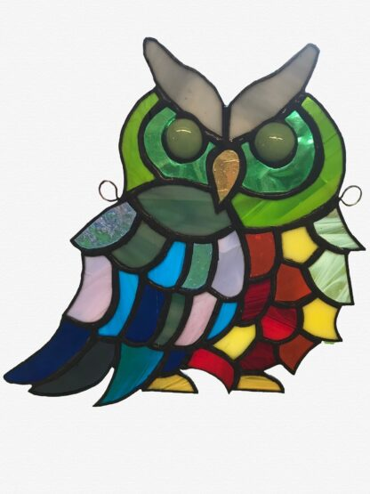 Stained glass owl design