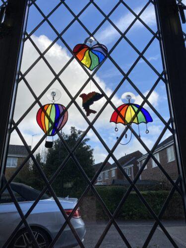 January - Rainbow Umbrella Stained Glass Suncatcher photo review